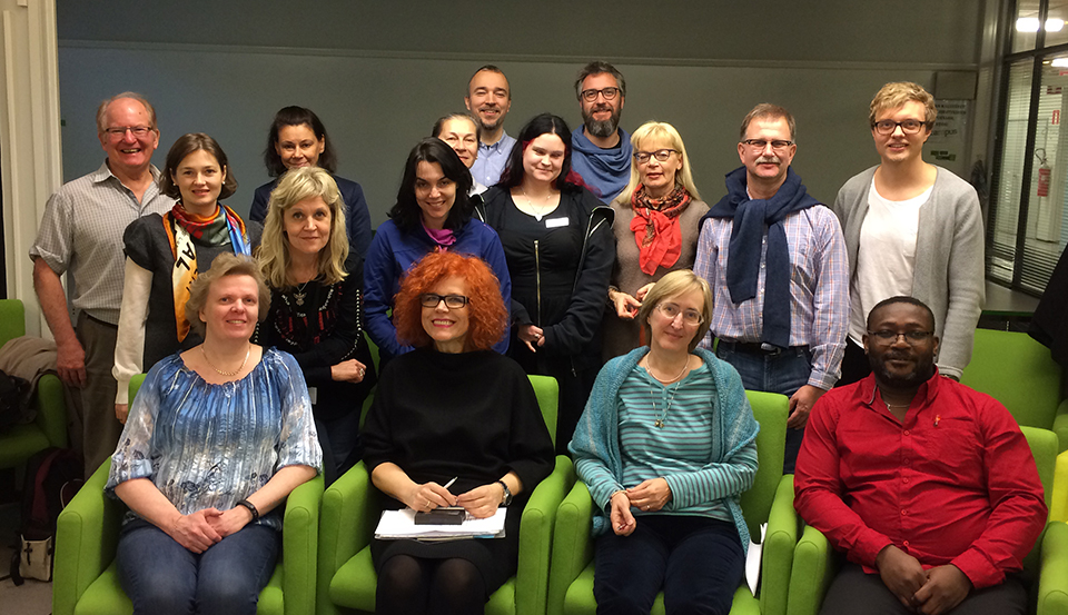 Some TAMK teachers together with international guests in February 2016
